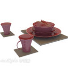 Red Bowl Cup Set