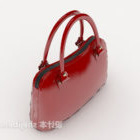 Red Lady Red Leather Bag