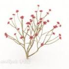 Arbre de plante extérieure rouge