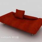 लाल चमड़ा झुकनेवाला सोफा