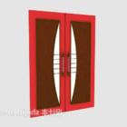 Cancello scorrevole rosso