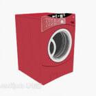 Punainen rumpu pesukone
