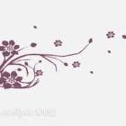 花柄の壁の装飾
