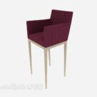 كرسي مرتفع أحمر بسيط
