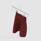 レッドスカートパンツ