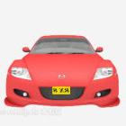 تصميم سيارة عربة حمراء