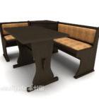 Ensemble de meubles de chaises de table de restaurant