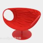 Sedia Girevole Colore Rosso
