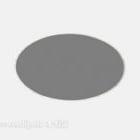 Tappeto rotondo grigio