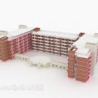 Röd fasadskolabyggnad