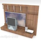Mobili in legno semplici da parete per tv