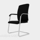 Simple Black Armrest Office Chair
