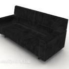 Semplice divano nero a più posti stile