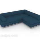 أريكة زرقاء بسيطة متعددة المقاعد