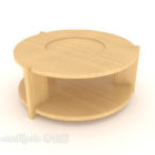 シンプルな二重層のコーヒーテーブル