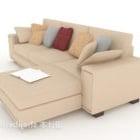 أزياء بسيطة أريكة متعددة المقاعد