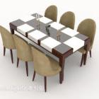 Semplice tavolo da sei persone generoso