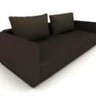 Arredamento semplice per divano doppio serie grigio