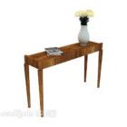 Prosty drewniany stolik pomocniczy do domu