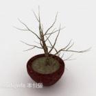شجرة داخلية بسيطة بوعاء داخلي جاف
