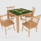 Simple Mahjong Table Chair Set
