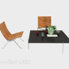 Simple Meeting Table Chair Set