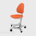 كرسي صالة برتقالي بسيط