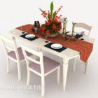 طاولة طعام رعوية بسيطة