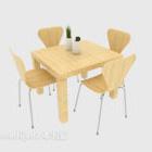 مجموعات كرسي طاولة رعوية بسيطة