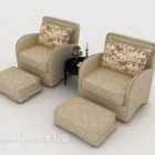 Enkel mønster dobbelt sofa