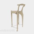كرسي مرتفع لشخصية بسيطة