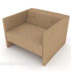 أريكة بسيطة من مادة القماش البني