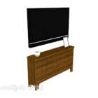 Szafka z litego drewna z TV