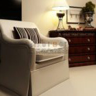 Enkelt sofa med mønstre pude