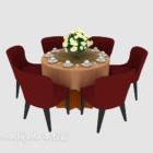 Tavolo per sei persone e tavolo
