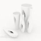 Set di porcellana bianca di dimensioni