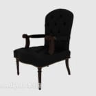 Solid Wood Armrest Home Chair
