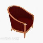 Solid Wood Armrest Sofa Chair