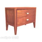 طاولة السرير الخشبية الصلبة الماهوجني خشبية