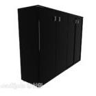 خزانة القاعة الخشبية السوداء الصلبة