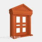Drzwi kompozytowe z litego czerwonego drewna