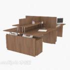 Powierzchnia biurowa z litego drewna