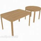 無垢材のエッジいくつかのサイドテーブル