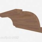 مكونات المنزل الخشبية الصلبة صب