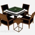 Massivholz Mahjong Tisch