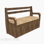كرسي صالة خشب متعدد المقاعد
