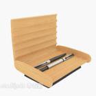 صندوق القلم الخشبي الصلب
