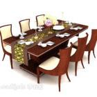 Tavolo per sei persone in legno massello