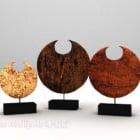 Artwork Sculpture Round Shaped Set