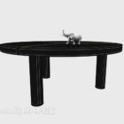 Asia Black Solid Wood Coffee Table
